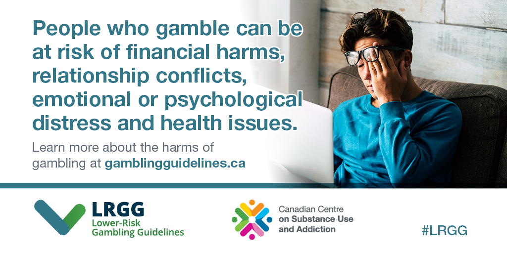 People who gamble can be at risk of financial harms, relationship conflicts, emotional or psychological distress and health issues.